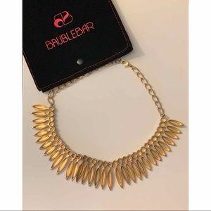 BaubleBar Jewelry - BaubleBar Midas Leaf Collar in Metallic Gold